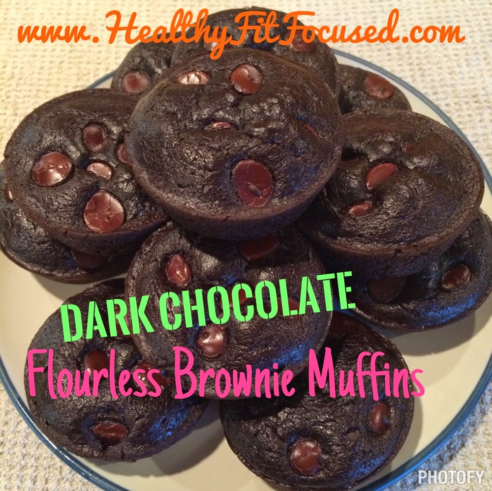 Dark Chocolate Flourless Brownie Muffins, healthy dessert, clean eating dessert