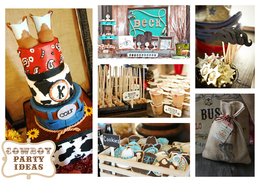 Cowboy Snack Ideas http://www.hautechocolate.ca/2012/07/cowboy-birthday-party-theme-ideas.html