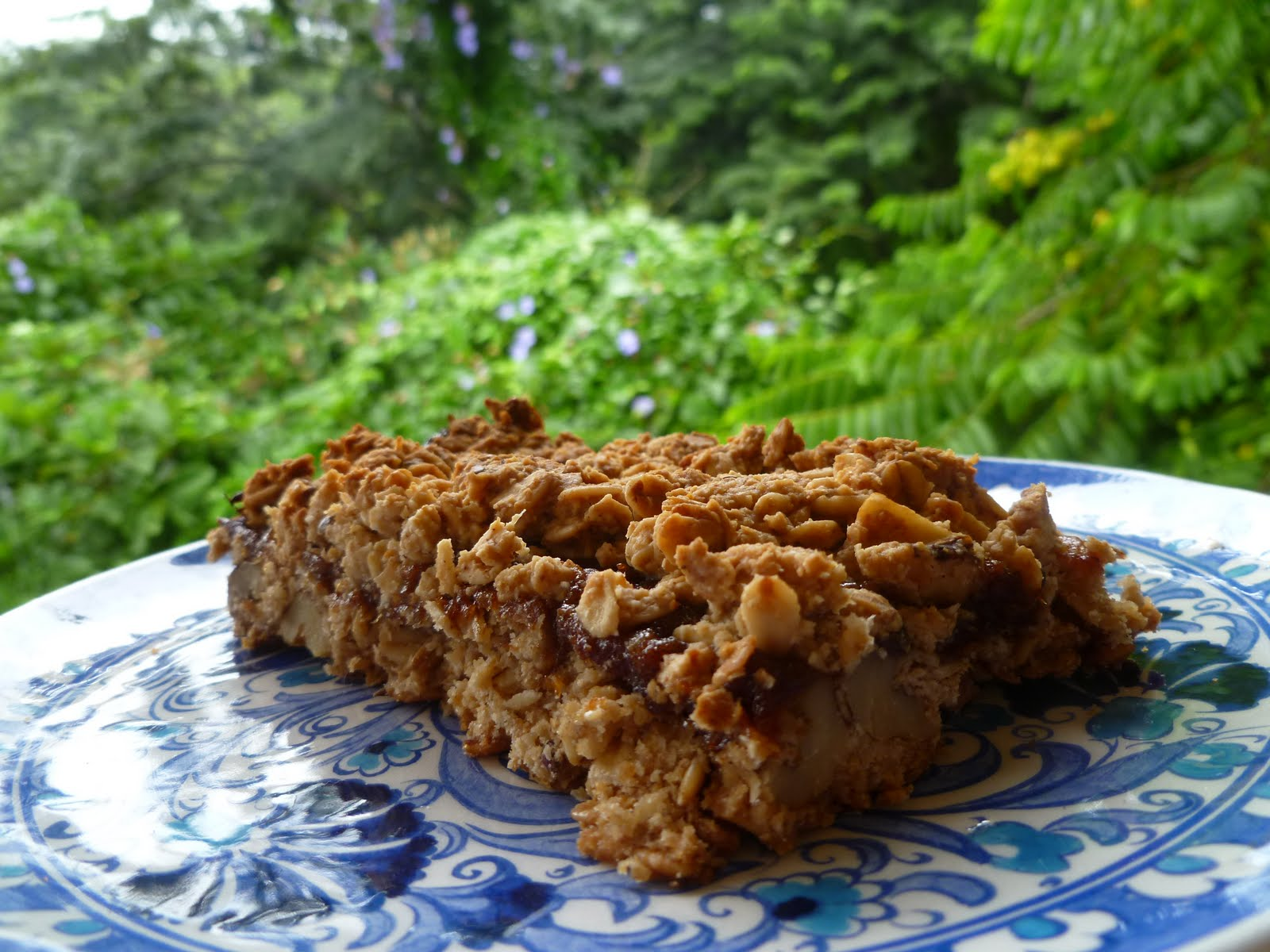 ... you met the Baking Fairy?: Rainy Day Sunshine, Oat Date Crumb Bars