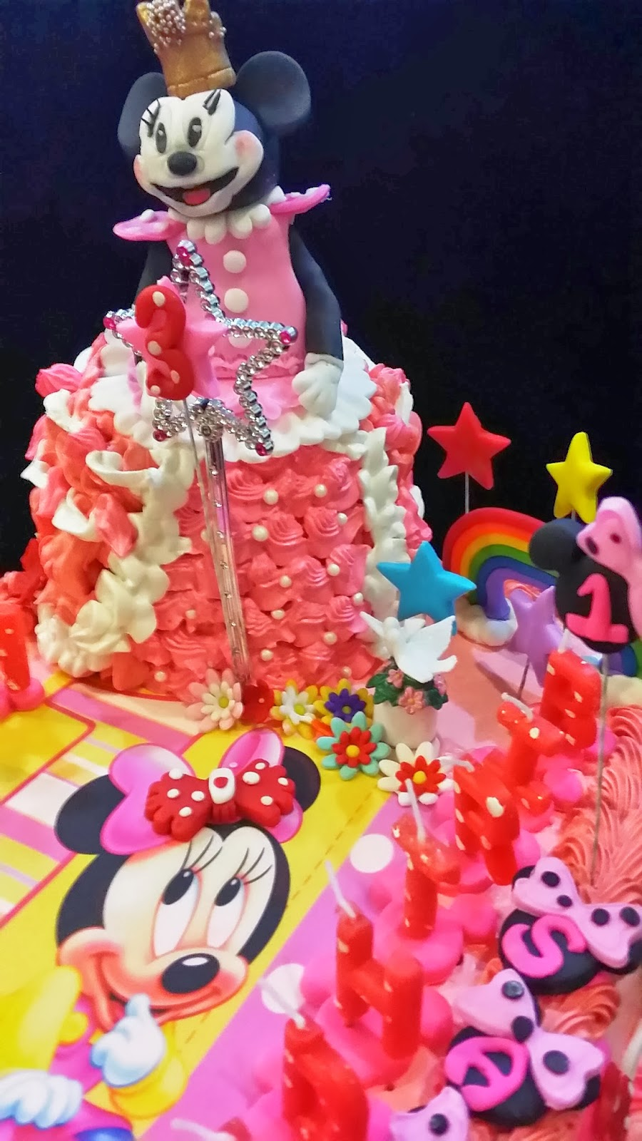 Sweet creations princess minnie mouse baby minnie edible chocolate blueberry cake and vanilla - Princesse minnie ...