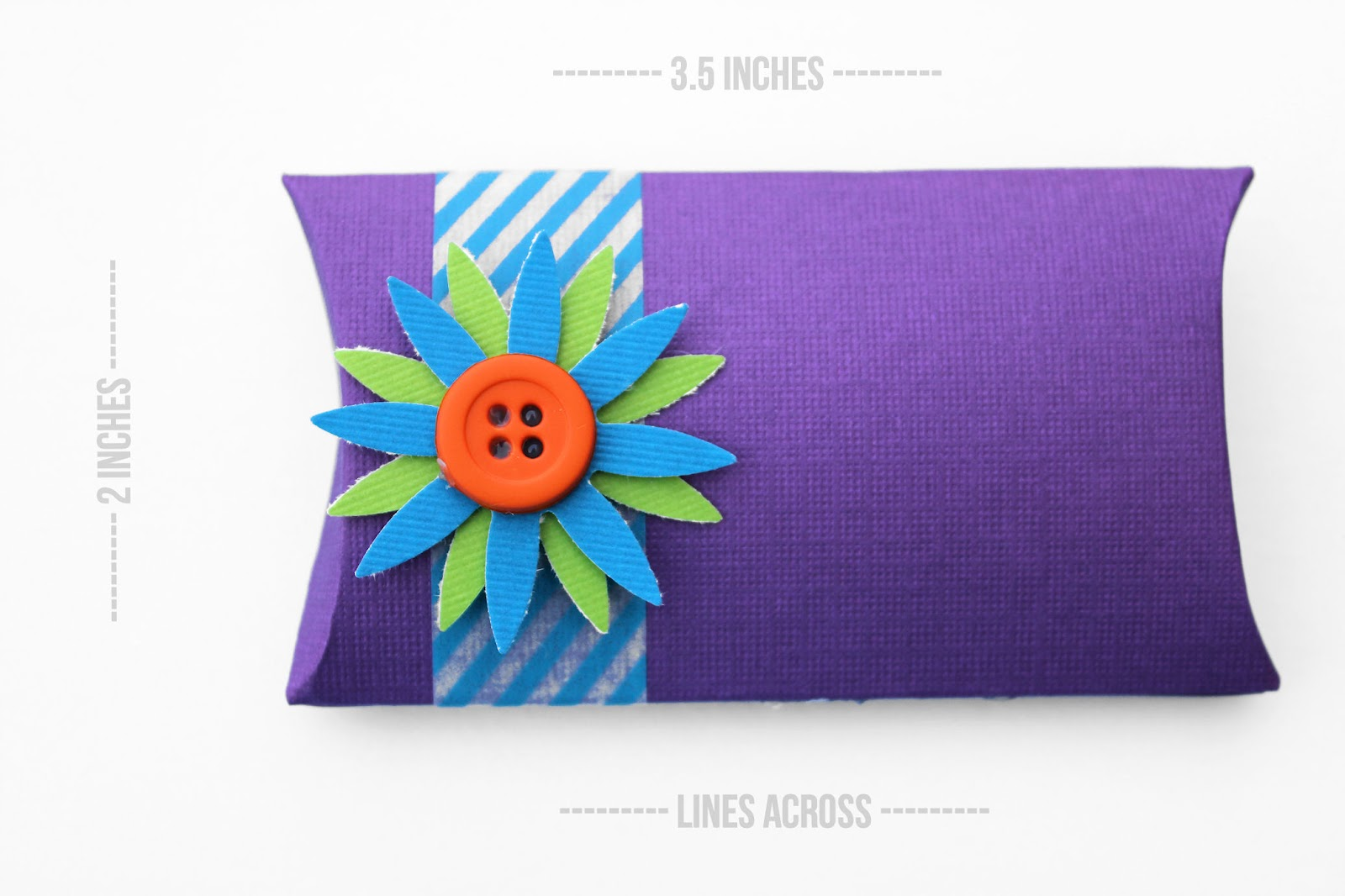 Make Your Own Pillow Boxes Lines Across