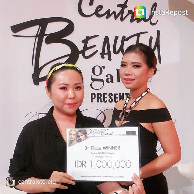 "3RD WINNER OF BEAUTY GALERIE ""GLAMOUR"" MAKEUP COMPETITION BY CENTRAL DEPT STORE INDONESIA"