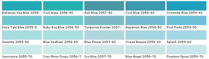 turquoise color paint