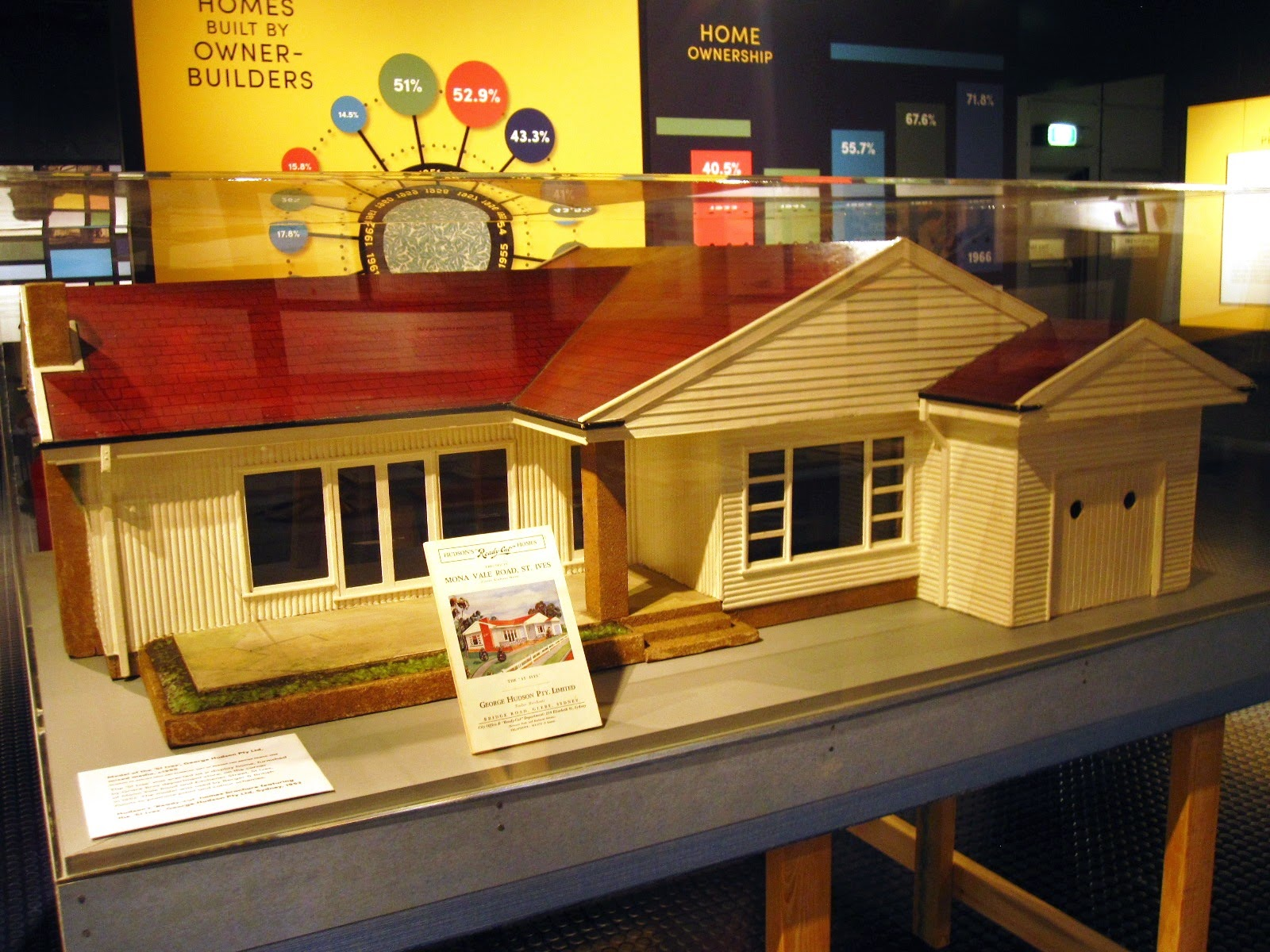 Model 'St Ives' house in the exhibition 'Dream Home Small Home'