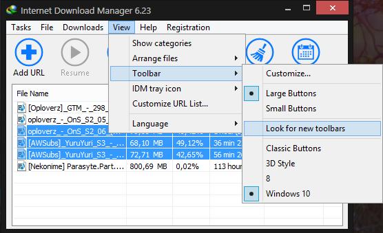 Cara Merubah Tampilan Toolbar IDM