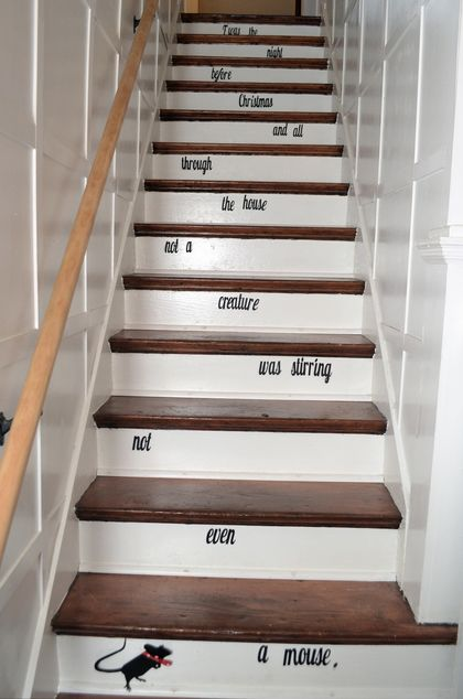 Holiday Storybook Stairs