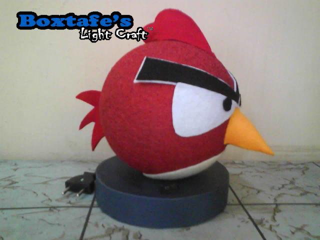 Lampu Tidur Benang Angry Bird Merah