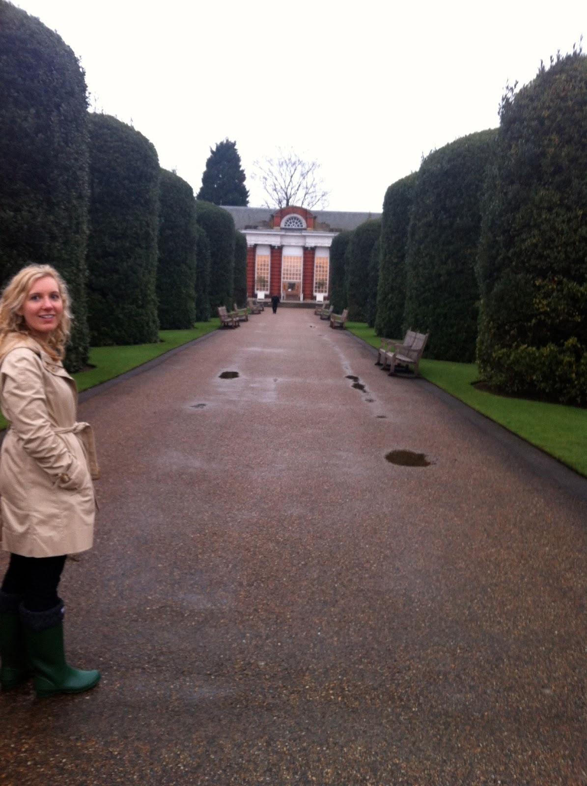 Elizabeth at Orangery at Kensington Palace, London