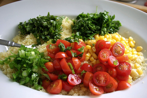Couscous Summer Salad l SImplyScratch.com