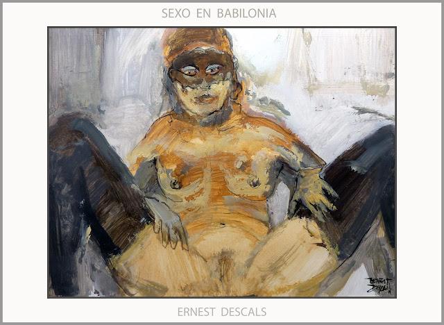 BABILONIA-SEXO-ARTE-PINTURA-MUJERES-PLACERES-SENSUALES-RAMERAS-ALEJANDRO MAGNO-ARTISTA-PINTOR-ERNEST DESCALS-