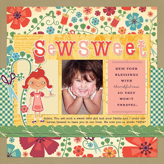 Little Girl_Sewing_Scrapbook Project