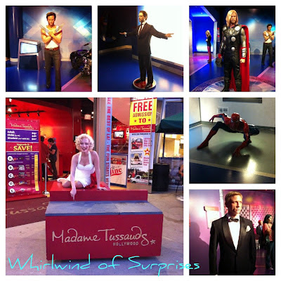Superheroes at Madame Tussauds