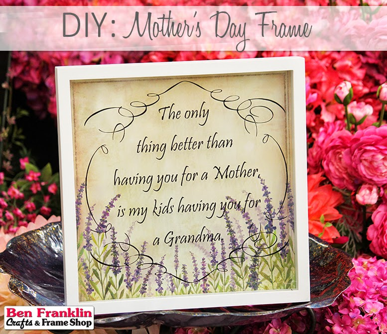 Mother's Day Frame Gift - using vinyl and paper