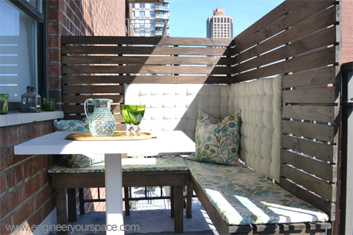 7 diy projects for renters for Apartment balcony privacy ideas