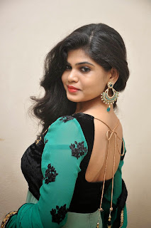 Actress Alekhya Latest Picture Gallery in Green Long Dress  002