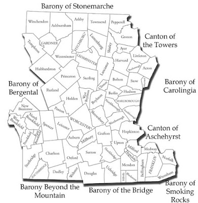 The towns and cities which are encompassed by the Shire of Quintavia SCA Inc