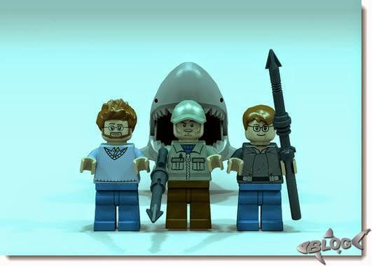 Hooper, Quint y Brody y... el tiburón.