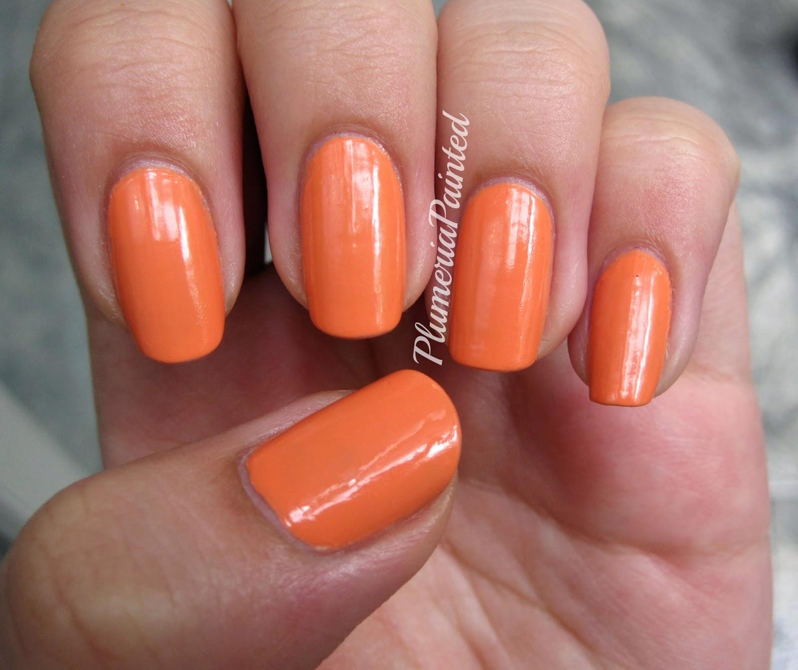 PlumeriaPainted: Orange Nails: OPI - Where Did Suzi\'s Man-go?