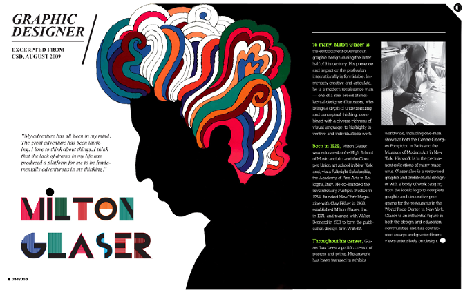 milton glaser essay The secret to milton glaser's now-iconic depiction of bob dylan not working with bob dylan.