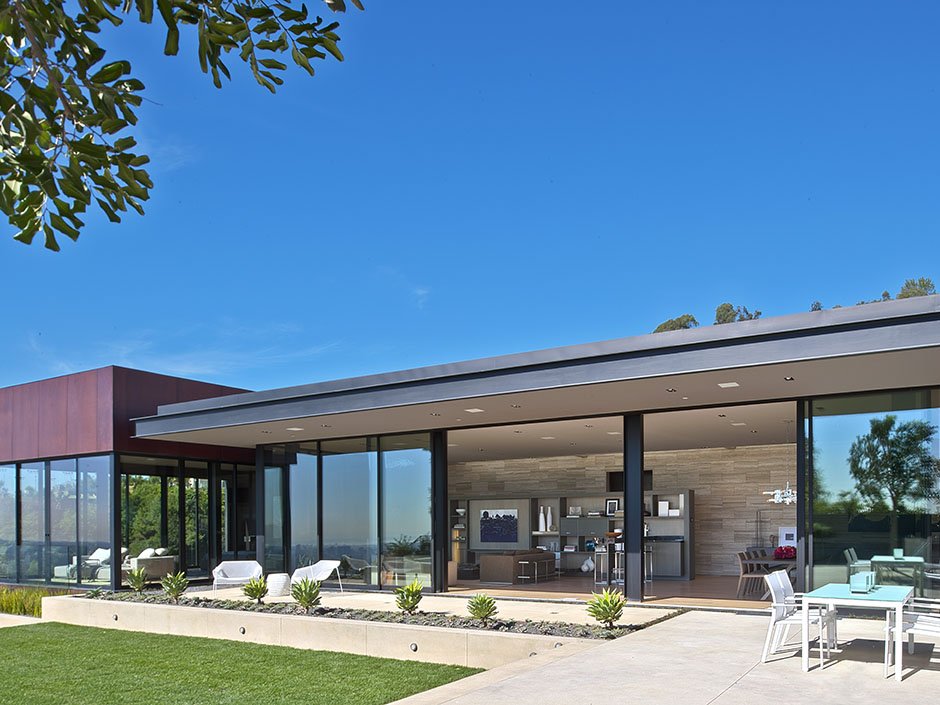 Modern cabinet sunset strip luxury modern house with - Architecture interieurs contemporains sunset strip ...