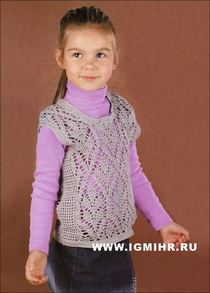 Вязание для детей - Ажурный жилет для девочки. . Related posts, вязаный жакет-болеро, ажурное болеро