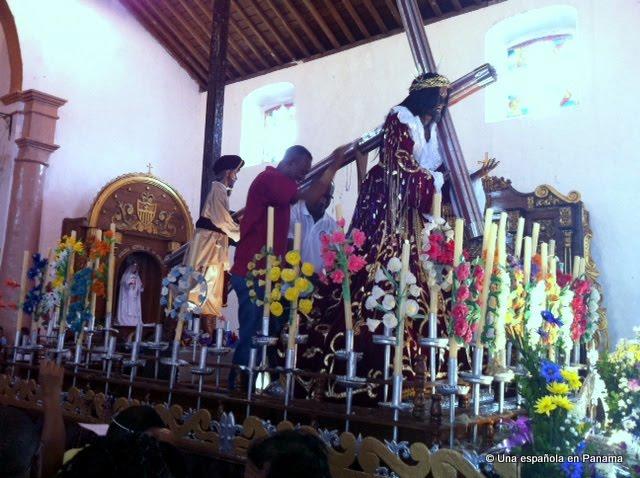 nazareno cristo negro portobelo procesion