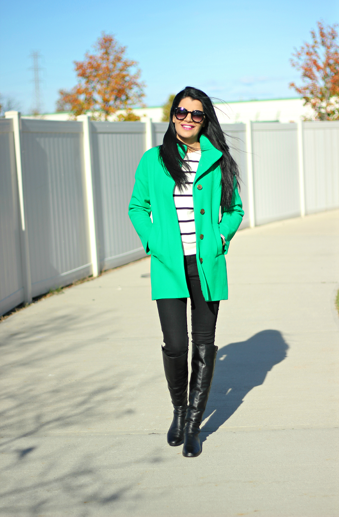 JCrew Factory City Coat, Dublin Green Coat, JCrew Cocoon Coat, Green Coat, Green Wool Coat