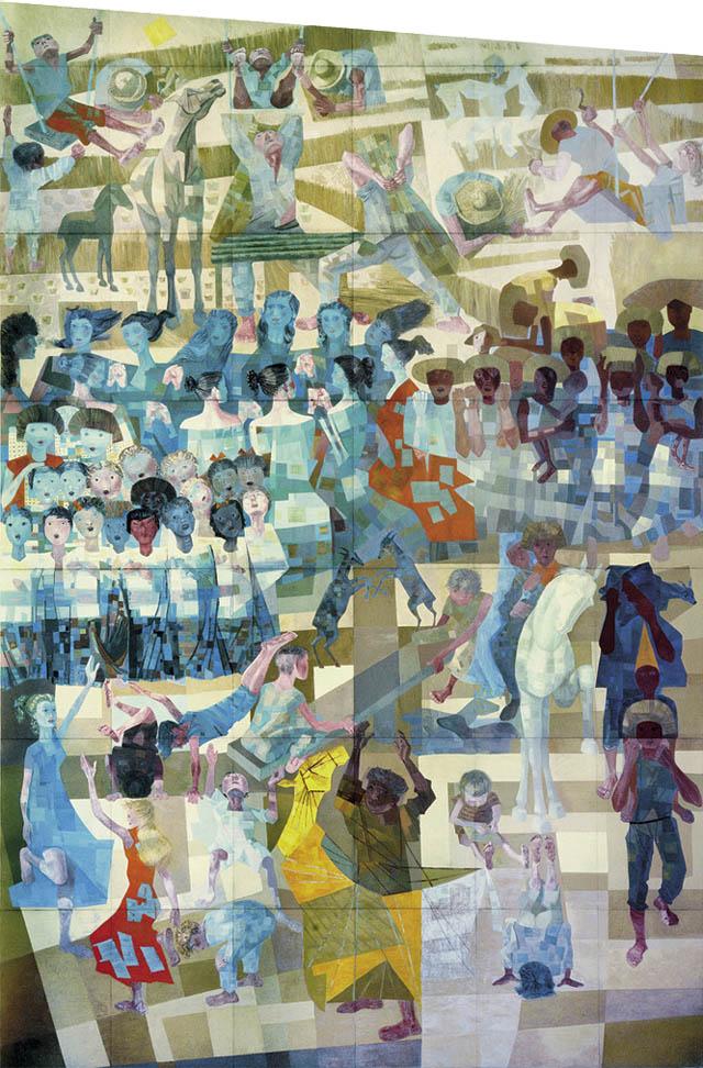 Painel Paz, de Candido Portinari, 1956. Presente do governo Brasileiro para a ONU.