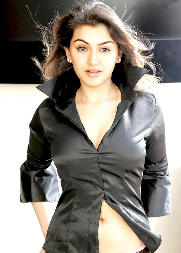 Hansika Motwani in a Hot Black Top