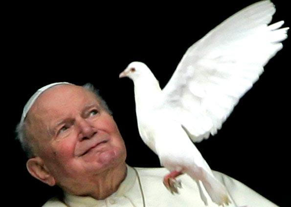 JP II e a pomba, eleiçao peter turkson joão XXIV, papa negro
