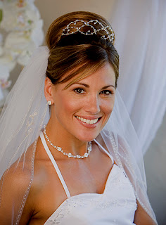 bride hairstyles veil long hair