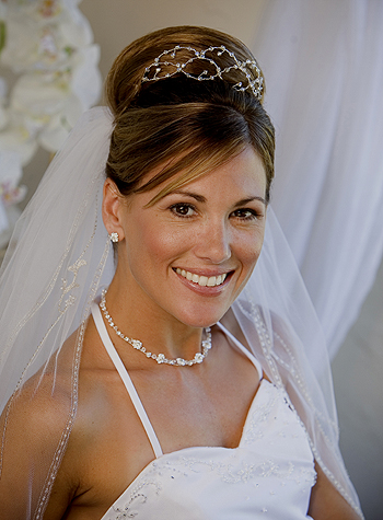 bride hairstyles veil wedding
