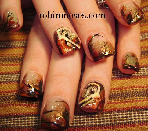 "robin moses nail art ""fall leaves"" ""fall nails"" ""fall"