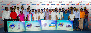 Group of winners with Samsung and Dialog officials