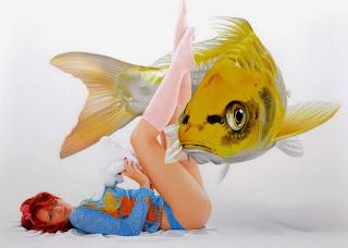 Cuadros Peces Chicas Surrealismo