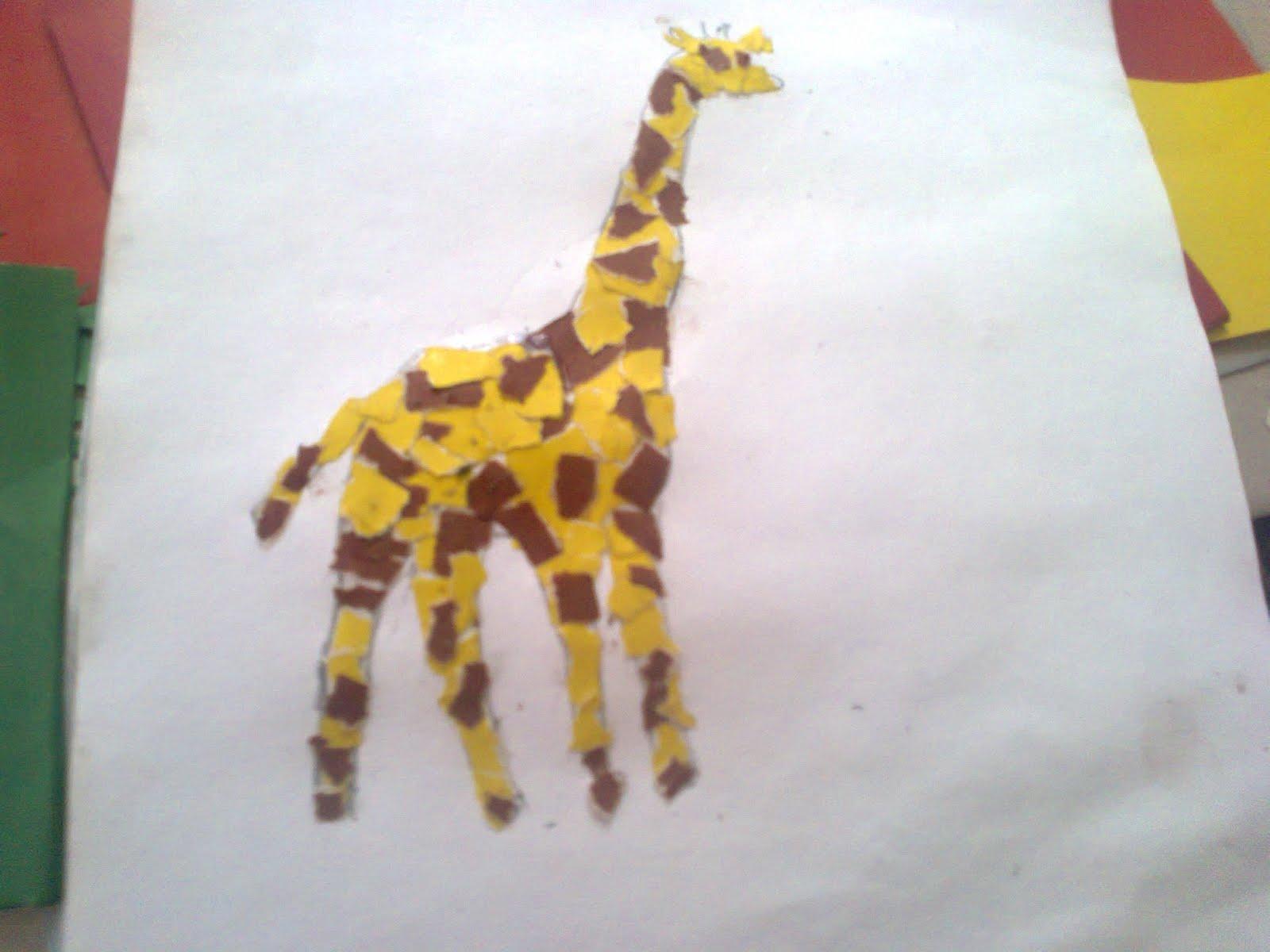 Жираф для поделок из бумаги 487