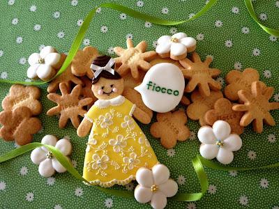 fiocco女の子とお花のクッキー