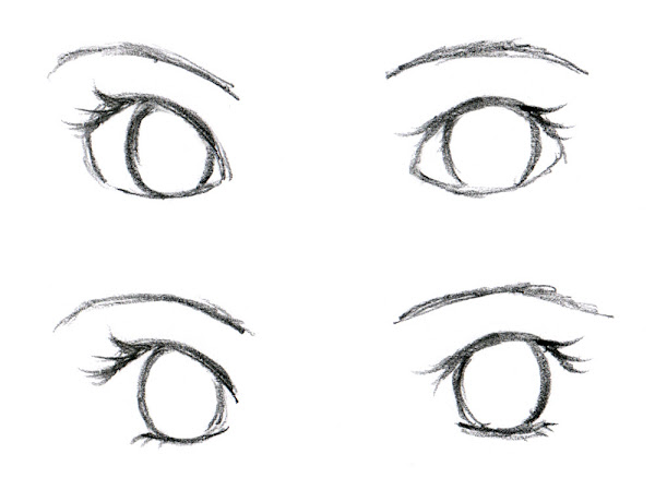 How to Draw Anime Girl Eyes Drawing