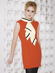 Diana Vickers orange dress