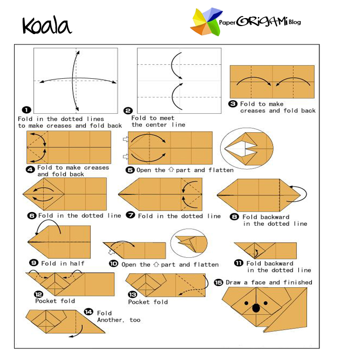 3d origami lion instructions
