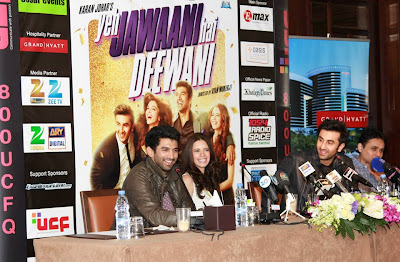 Ranbir Kapoor & others at  YJHD promotions