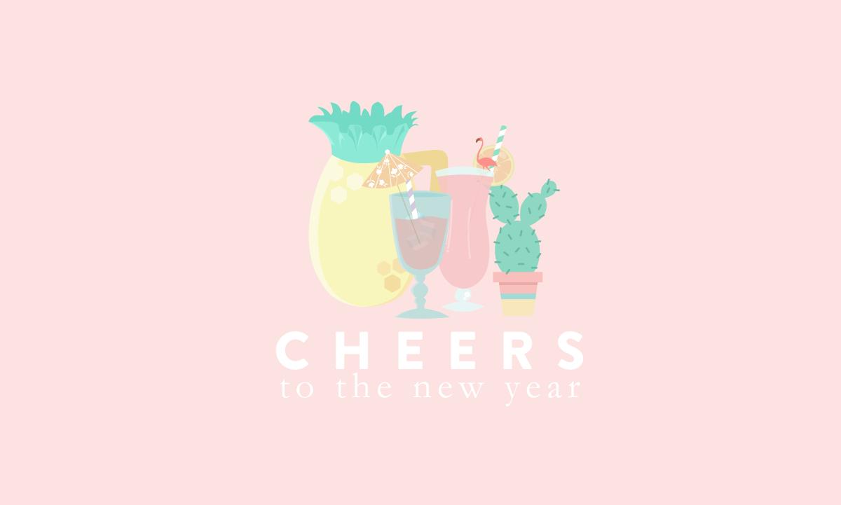 design grafico ilustracao ano novo 2015