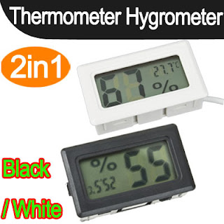 Mini Digital LCD Thermometer Hygrometer Humidity Temperature Meter Probe Indoor