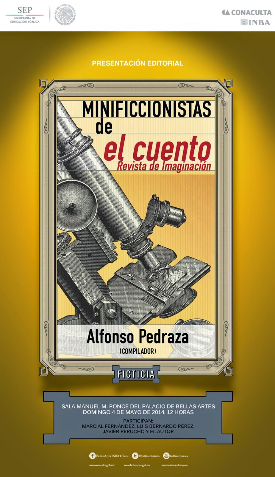 """Presentación del libro """"Cuentistas brevísimos de El cuento, revista de imaginación"""" en Bellas Artes"""
