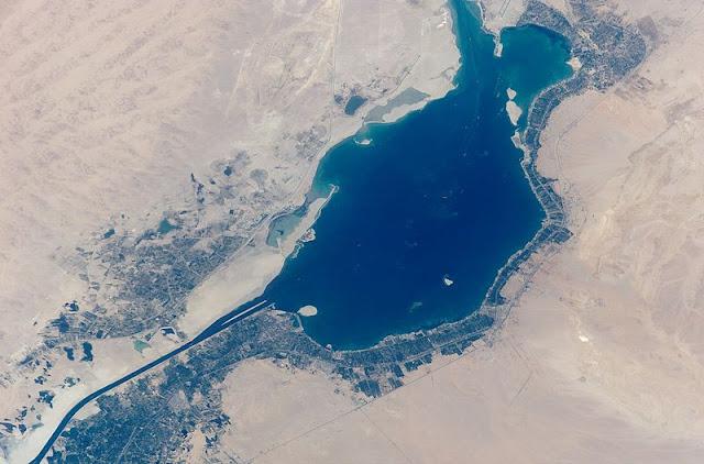 Il Grande Lago Amaro visto dallo spazio