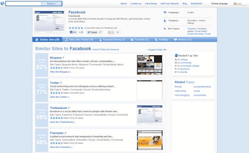 Similar website finder
