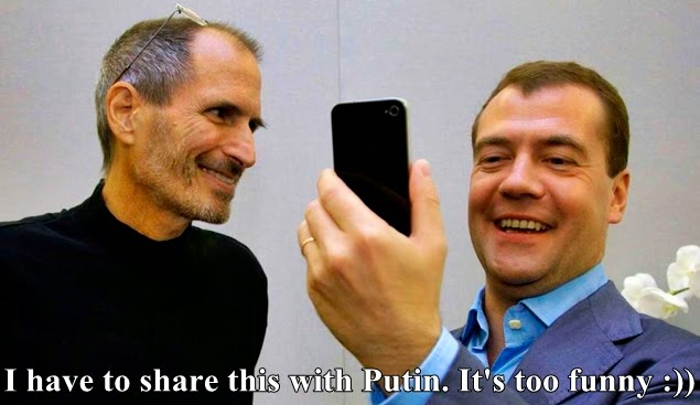 steve jobs, dmitry medvedev