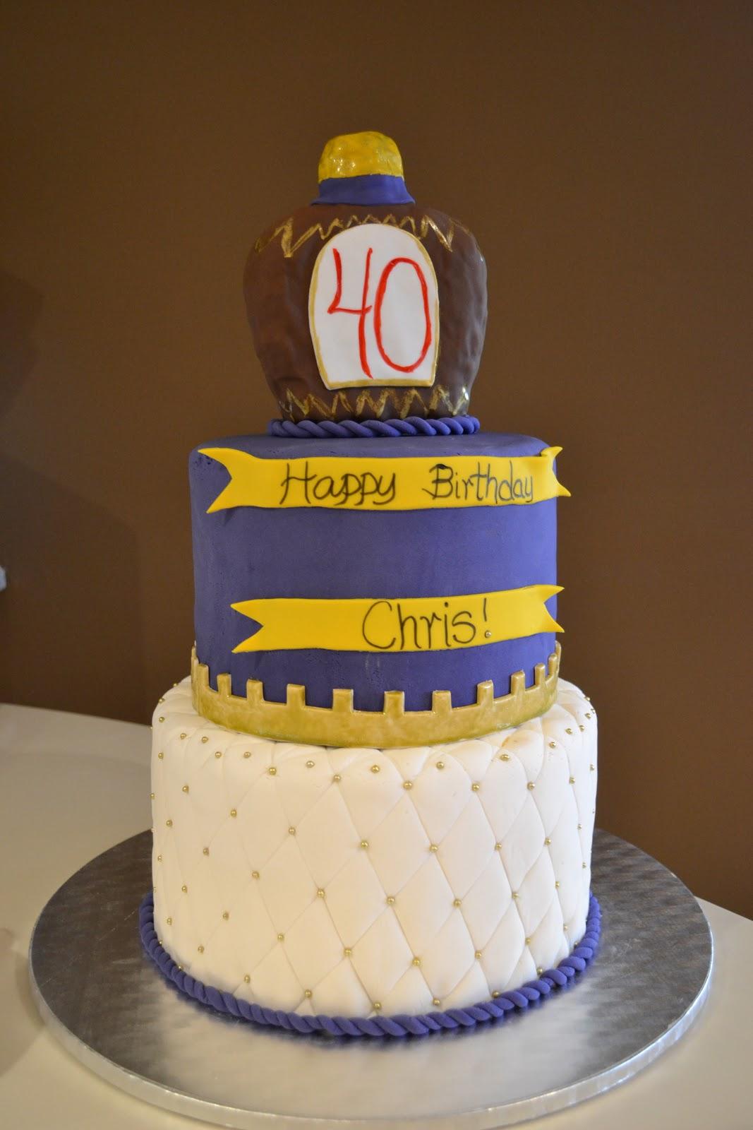 Lifes Sweet Crown Royal 40th Birthday Cake