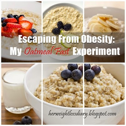 Escaping From Obesity: My Oatmeal Fast Experiment