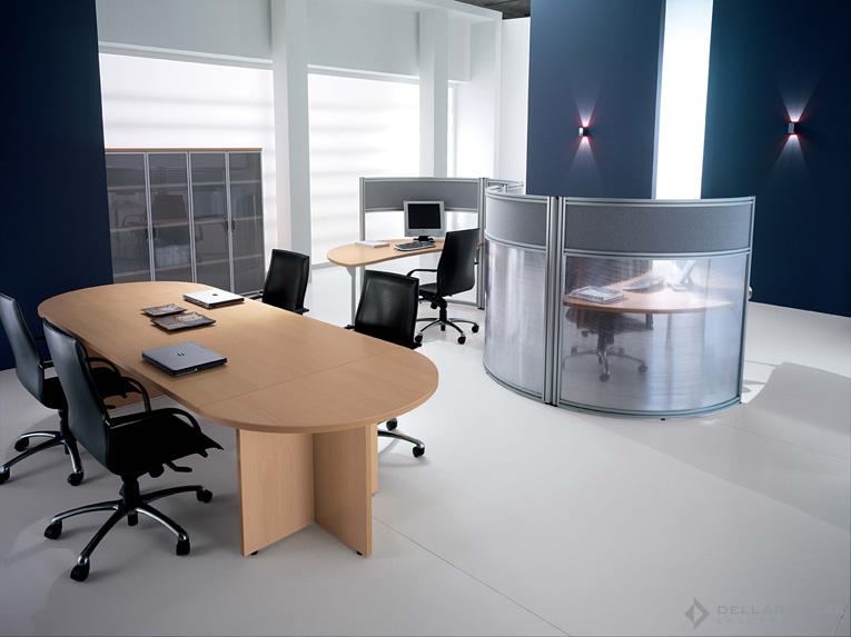 Tipos de mesas de conferencia oficina ideas para decorar for Mesas para oficina